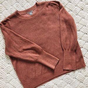 H&M Rose gold metallic sweater
